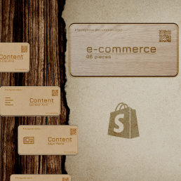 Wooden WordPress website e-commerce bundle